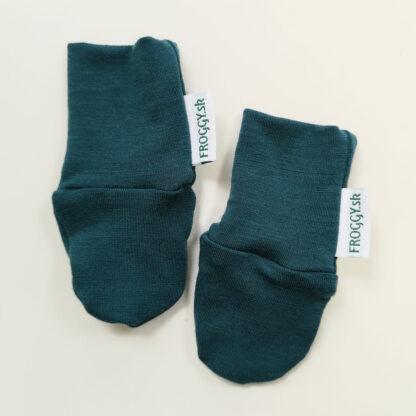Tenké merino rukavičky pre novorodencov