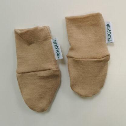 Novorodenecké rukavičky s merinom