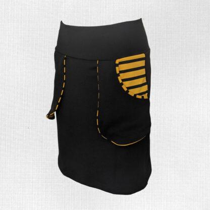 Dámska merino sukňa s vreckami