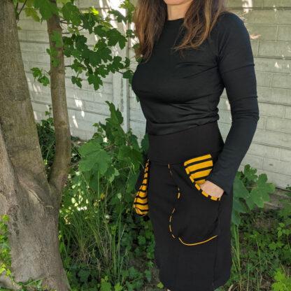 Outdoorová sukňa z merino vlny