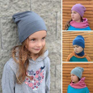 Teplá čiapka pre deti z merino vlny