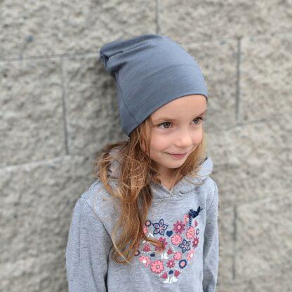 Detská čiapka z merina Makovica