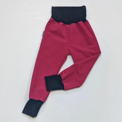 Outdoorové detské nohavice softshell s merinom